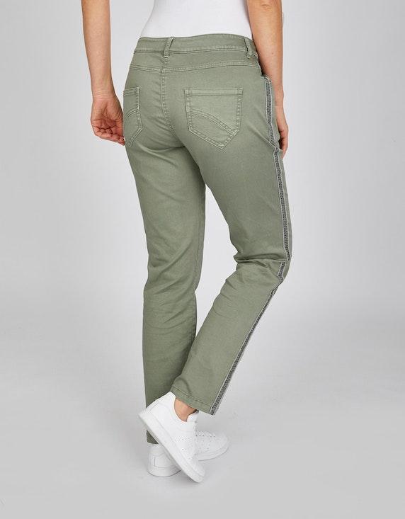 Via Cortesa Softe Colour-Jeanshose mit Galonstreifen | ADLER Mode Onlineshop