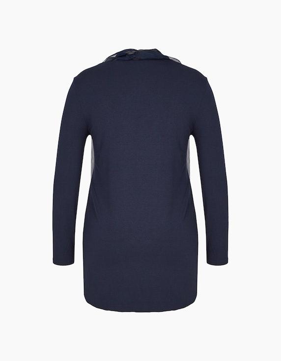 MY OWN leichte Shirtjacke mit Chiffonblende | ADLER Mode Onlineshop