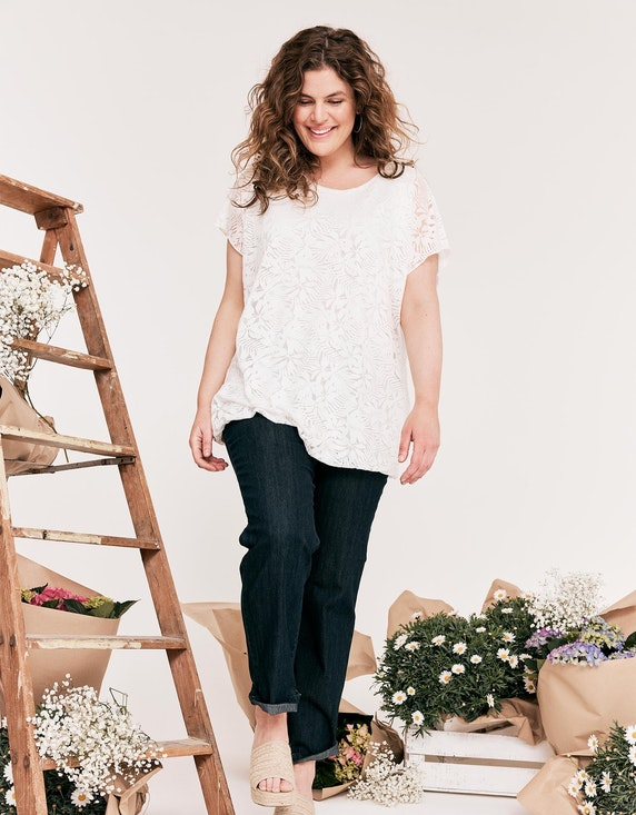 Thea Basic-Jeans, 5-Pocket-Style, Paula in Blue Denim | ADLER Mode Onlineshop
