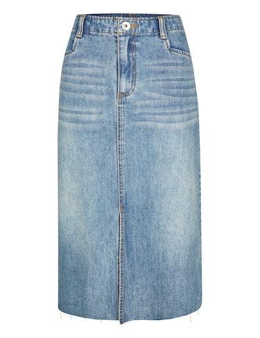 Produktbild zu Jeans-Rock mit offenem Saum von MY OWN