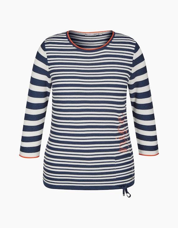 Rabe Pullover mit Streifen und Rollkanten   ADLER Mode Onlineshop