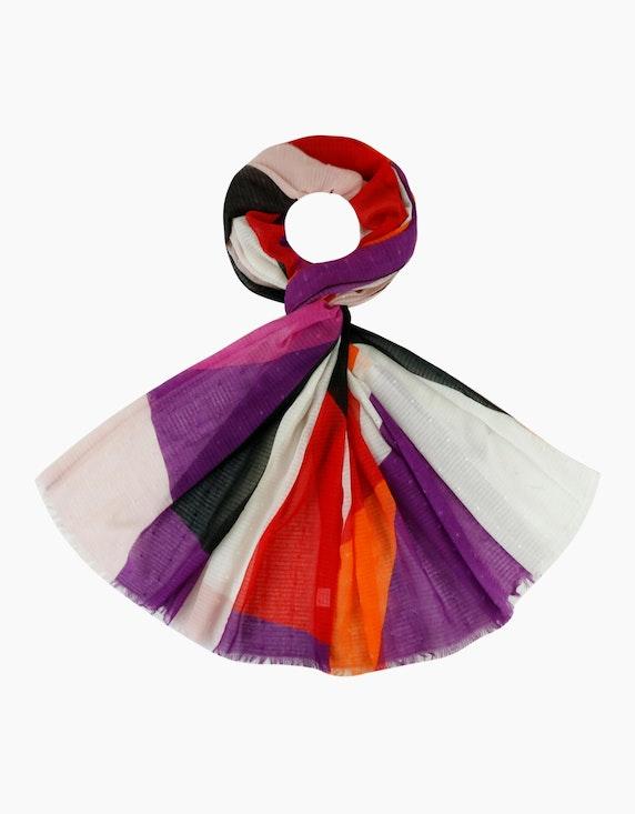 Adler Collection Leichter Schal in Blockfarben   ADLER Mode Onlineshop