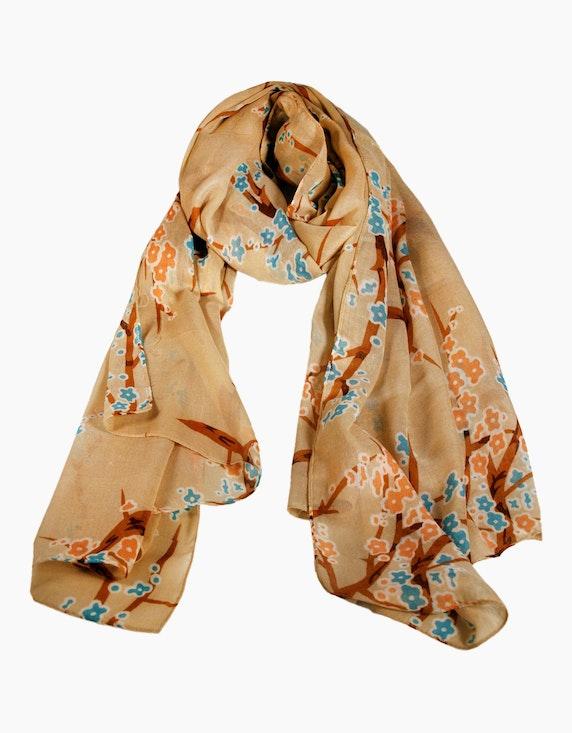 Adler Collection Schal mit floralem Druck   ADLER Mode Onlineshop