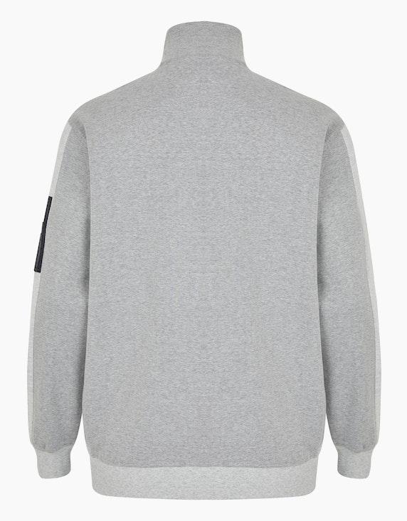 Big Fashion strukturierte Sweatjacke in Twotone | ADLER Mode Onlineshop