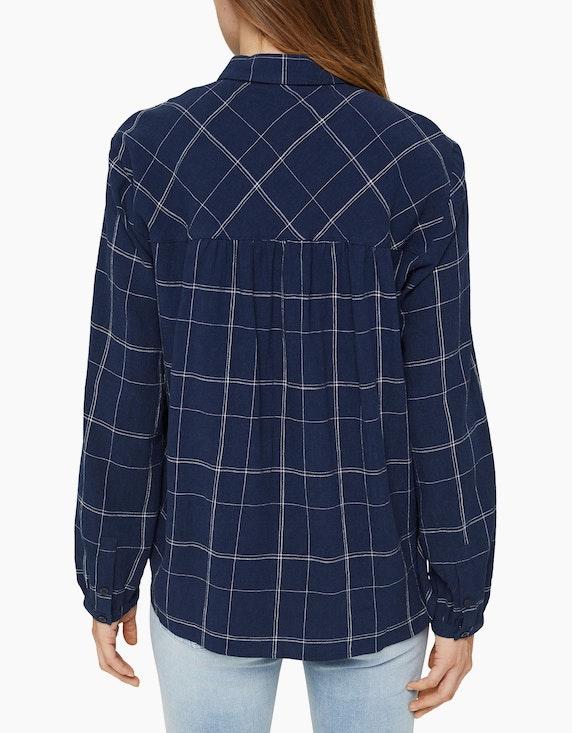 Esprit Hemdbluse im Karo-Design aus Leinen-Mix | ADLER Mode Onlineshop