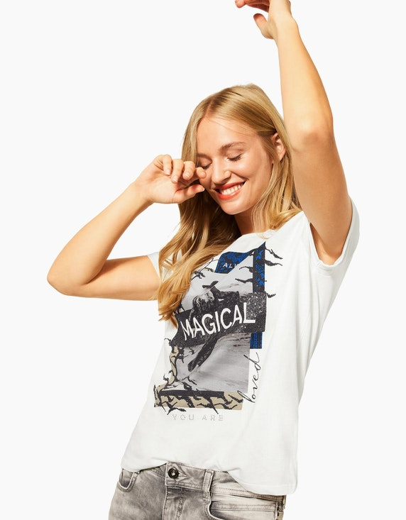 Street One Shirt mit Frontprint, reine Baumwolle   ADLER Mode Onlineshop