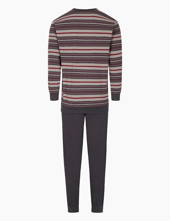 NORMANN Pyjama mit Rippbündchen am Beinabschluss   ADLER Mode Onlineshop