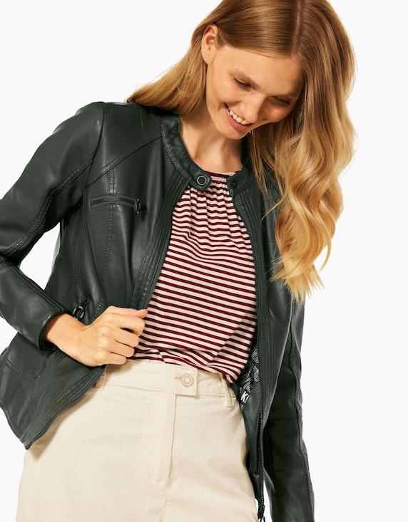 CECIL Lederimitat-Jacke mit Reißverschluss   ADLER Mode Onlineshop