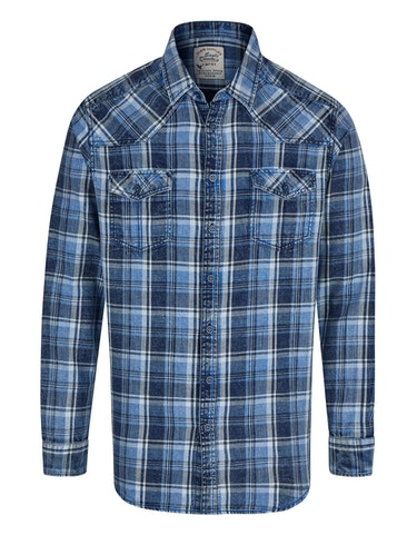 Produktbild zu Kariertes Langarmhemd im Westernstyle von Eagle Denim