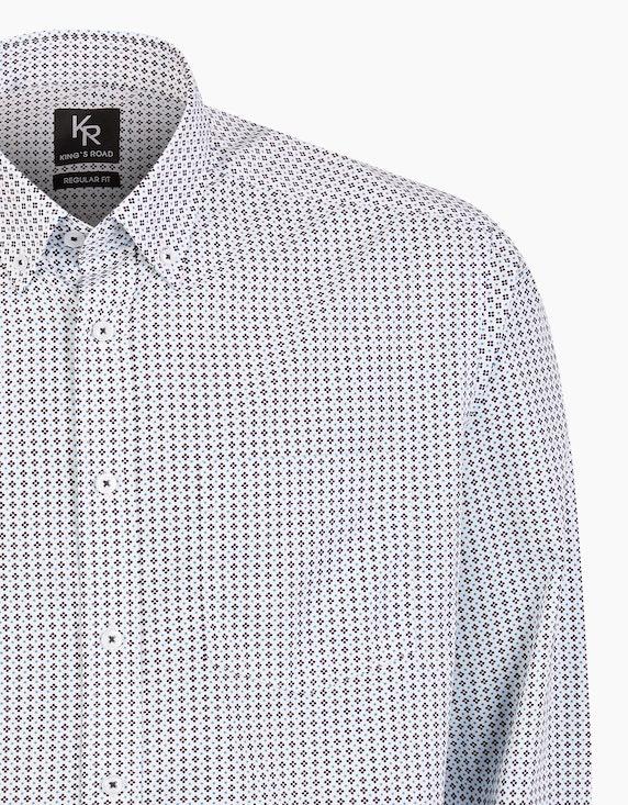 Adler Collection Freizeithemd mit modischem Allover-Print, REGULAR FIT   ADLER Mode Onlineshop