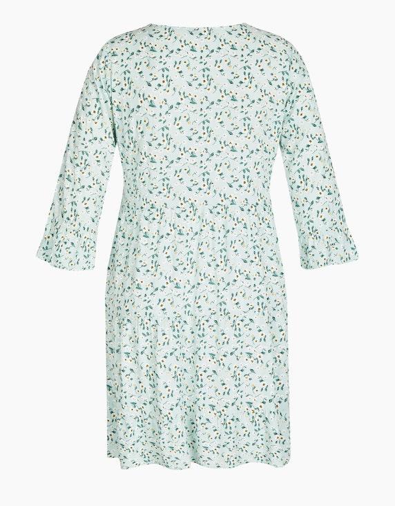 Made in Italy Stufenkleid mit floralem Druck | ADLER Mode Onlineshop