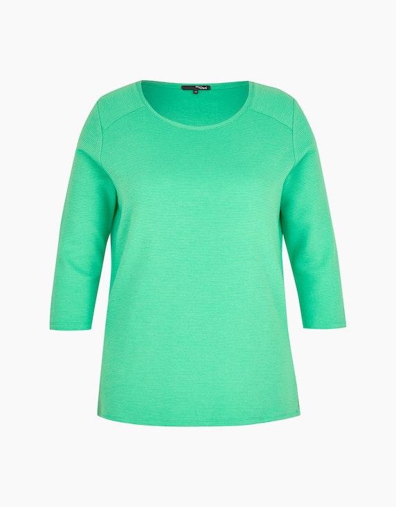 MY OWN Shirt mit Streifen-Struktur in Grün   ADLER Mode Onlineshop