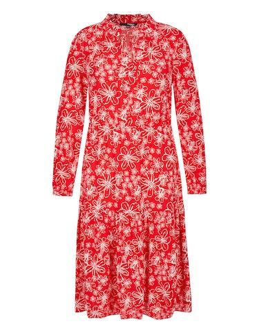 Produktbild zu Langes Volantkleid mit floralem Druck von MY OWN
