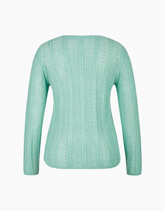 MY OWN Ajour-Pullover aus recyceltem Polyester   ADLER Mode Onlineshop