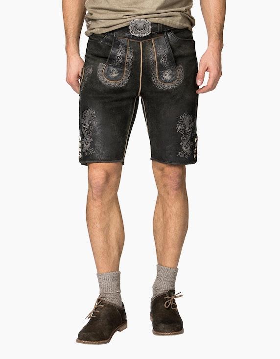 Stockerpoint Lederhose kurz mit Gürtel | ADLER Mode Onlineshop