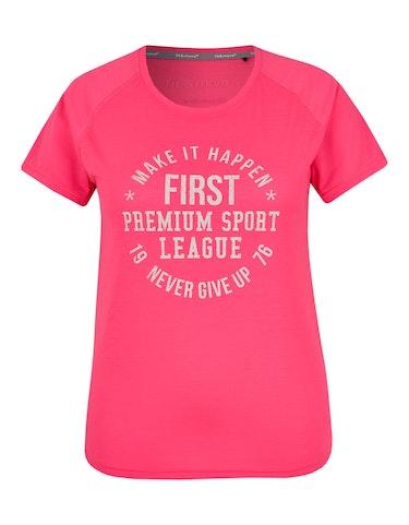 Produktbild zu Fitness T-Shirt mit großem Brustprint von Fit&More