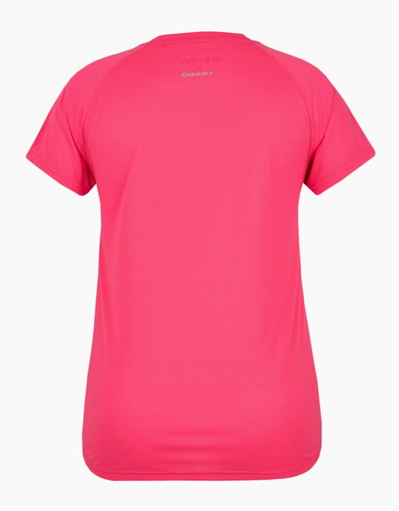 Fit&More Fitness T-Shirt mit großem Brustprint | ADLER Mode Onlineshop