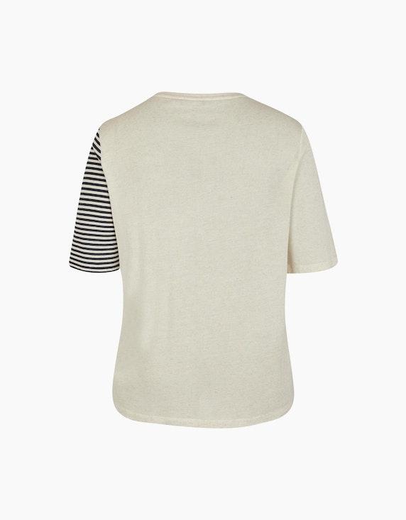 No Secret Halbarmshirt mit Streifen- und Unimuster | ADLER Mode Onlineshop