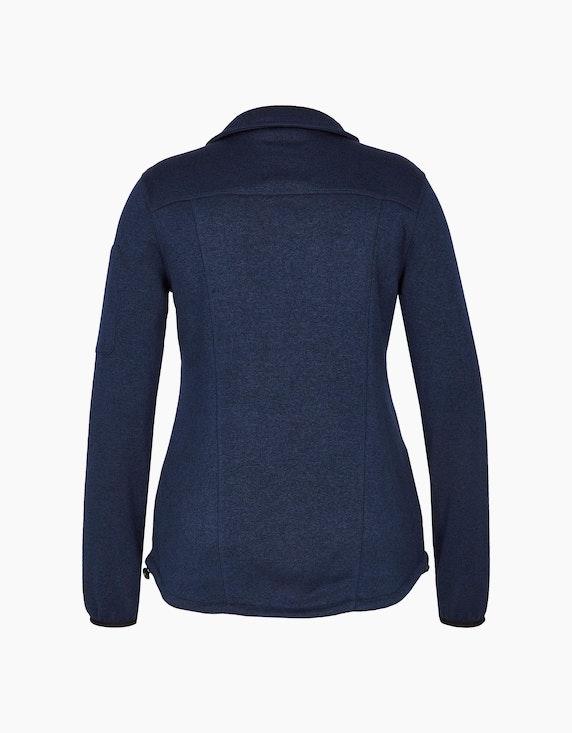 Eibsee Strick-Fleece-Jacke mit Stehkragen   ADLER Mode Onlineshop
