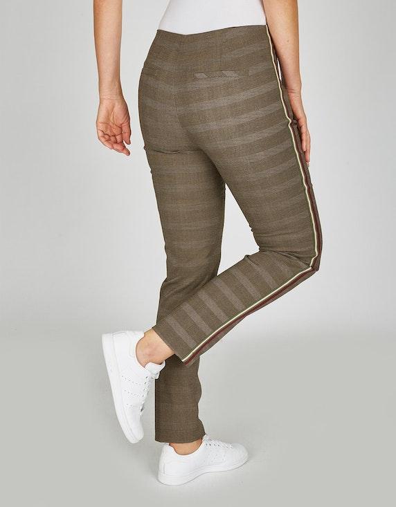 Bexleys woman Hose mit Glencheck-Muster und Galonstreifen   ADLER Mode Onlineshop