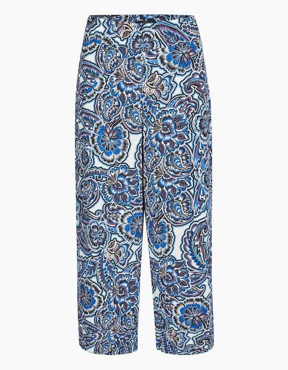 Bexleys woman Culotte mit floralem Druck in Blau/Schwarz/Mauve/Weiß | ADLER Mode Onlineshop