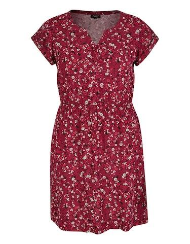 Produktbild zu Viskose-Kleid mit Druck und elastischer Taille von Bexleys woman
