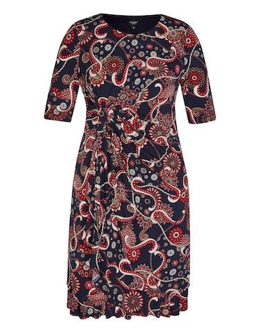 Produktbild zu Jerseykleid mit Druck und Volantsaum von Bexleys woman