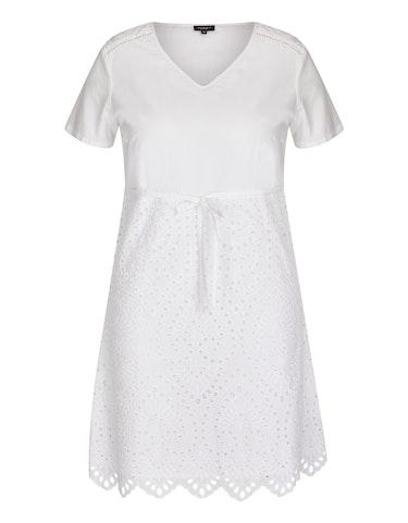 Produktbild zu Baumwoll-Kleid mit Lochstickerei von Bexleys woman