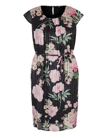 Produktbild zu Chiffonkleid mit Streifen und Blumen von Bexleys woman