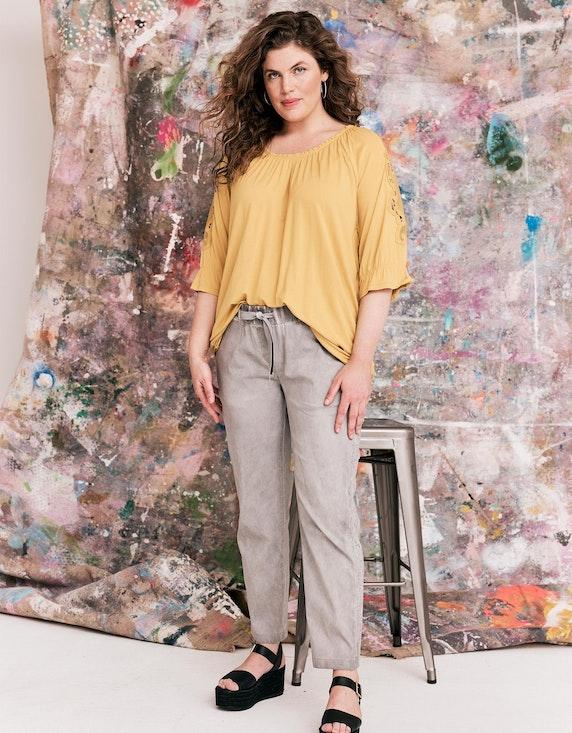 Thea Shirt mit Spitze an den Ärmeln in Gelb | ADLER Mode Onlineshop