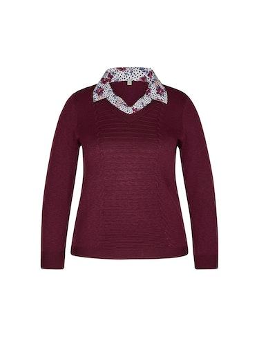 Produktbild zu Pullover mit eingesetztem Blusenkragen von Malva