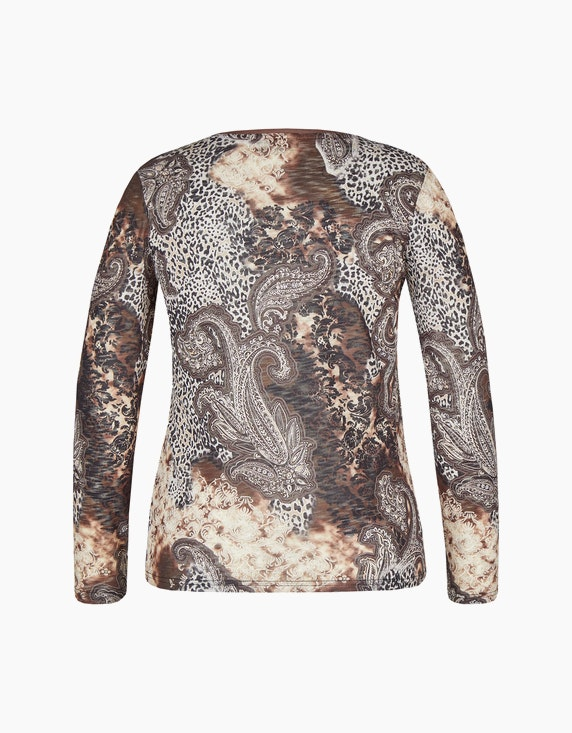 Bexleys woman Transparentes Langarmshirt mit floralem Druck   ADLER Mode Onlineshop