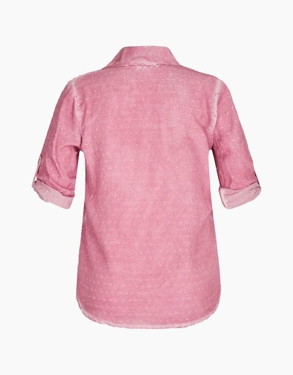 Made in Italy Bluse mit Dobby-Struktur | ADLER Mode Onlineshop