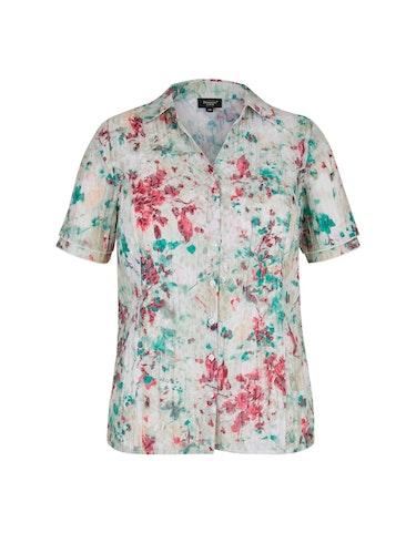 Produktbild zu Crinkle-Bluse mit Druck und Ausbrenner von Bexleys woman
