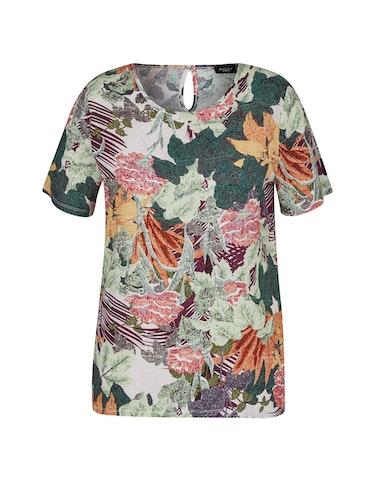 Produktbild zu Schlupfbluse mit tropischen Allover-Print von Bexleys woman