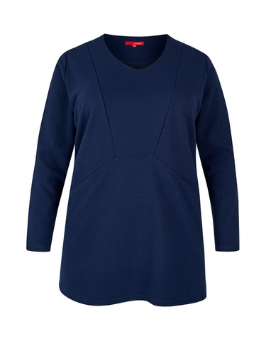 Produktbild zu Sweatshirt mit Streifenstruktur von Thea