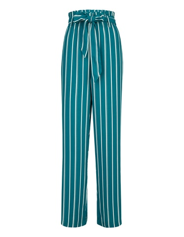 bexleys woman - Palazzo-Hose mit Streifen und Paperbag-Bund, 225004