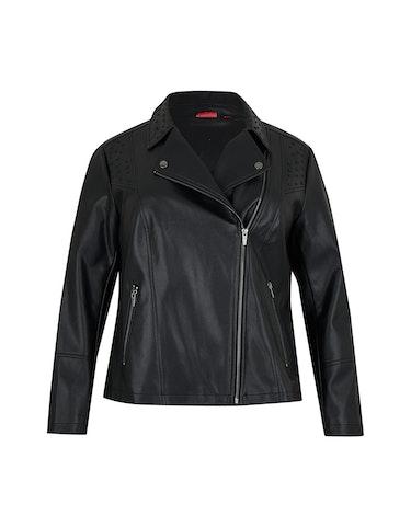 Produktbild zu Biker-Jacke in Lederimitat mit Zierdetails von Thea
