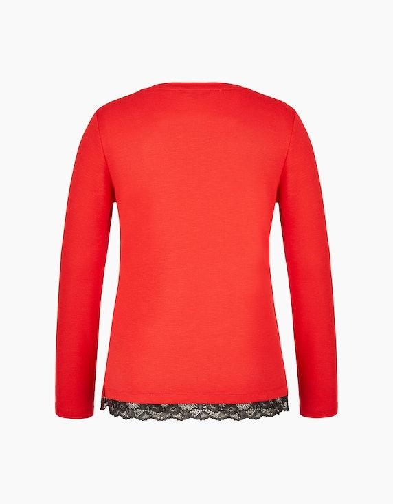 MY OWN Langarmshirt mit Spitzendetail | ADLER Mode Onlineshop