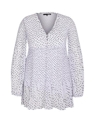 Produktbild zu Plissee-Bluse mit Rüschen-Details und Punkten von MY OWN