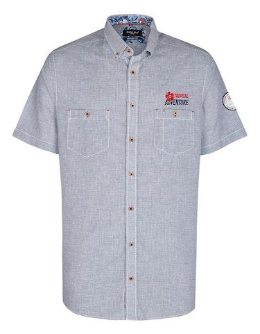 Produktbild zu <strong>Freizeithemd im Kleinkaro mit Stickerei</strong>REGULAR FIT von Bexleys man