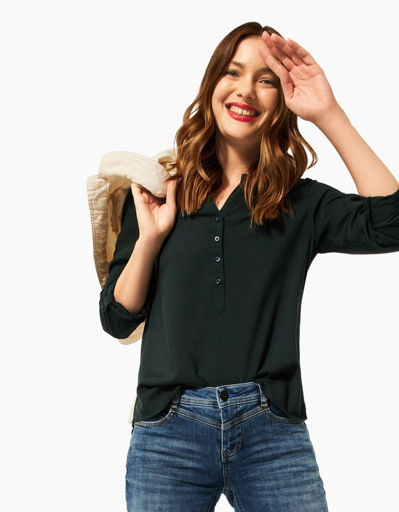 Street One Bluse mit halber Knopfleiste | ADLER Mode Onlineshop