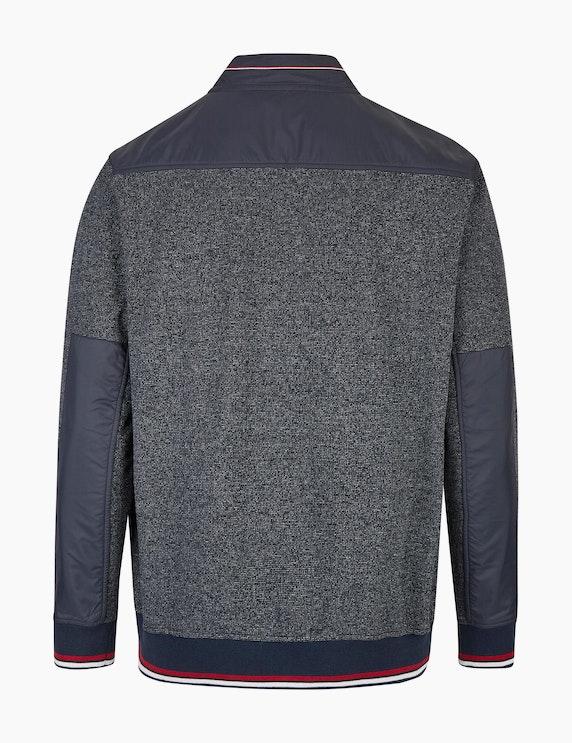 Bexleys man Sweat-Cardigan mit Nylon-Schulterpassé | ADLER Mode Onlineshop
