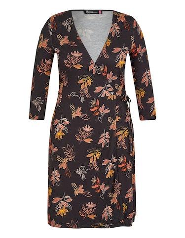 Produktbild zu Jersey-Wickelkleid mit Blätterdruck von Birgit Schrowange Kollektion