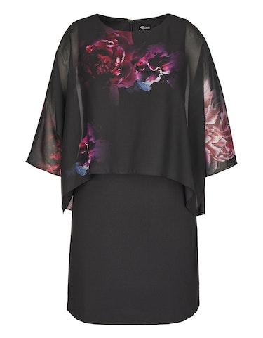 Produktbild zu Kleid mit Chiffon-Cape von KS. selection