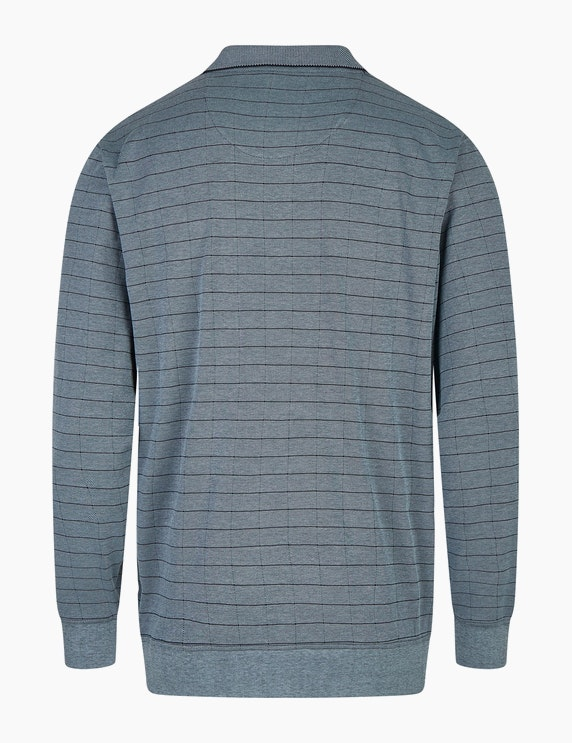 Bexleys man Langarm-Poloshirt in Twotone-Optik | ADLER Mode Onlineshop