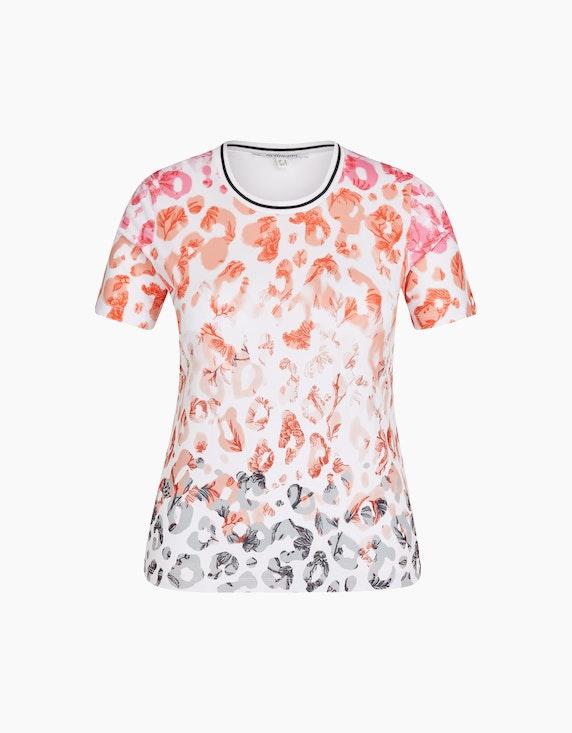 Steilmann Woman Shirt im Animal-Look in Ecru/Pink/Apricot/Beige/Grau | ADLER Mode Onlineshop