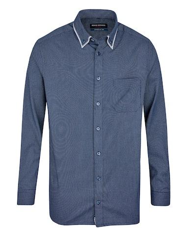 Produktbild zu <strong>Dresshemd mit Dobby-Muster und Doppelkragen</strong>REGULAR FIT von Bernd Berger