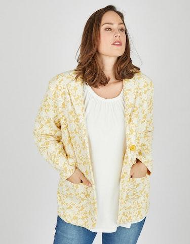 Produktbild zu <strong>Jacquard-Blazer mit floraler Spitze</strong>bicolor von Thea