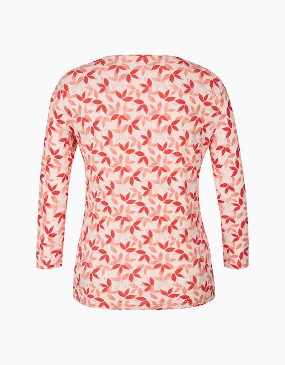 Bexleys woman Shirt mit 3/4-Arm und Blätterdruck | ADLER Mode Onlineshop